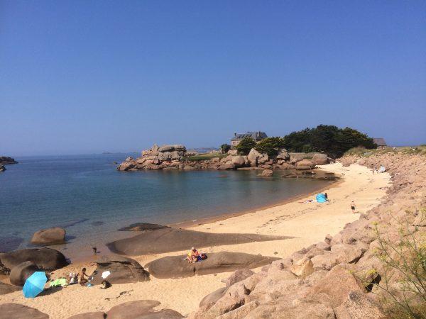 Tregastel beach in Brittany France