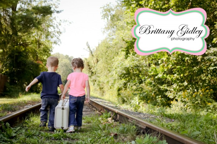 Railroad Toddler Twins | Brittany Gidley Photography LLC