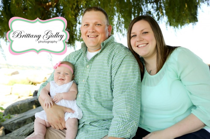 3 Month Baby With Family Photos | Brittany Gidley Photography LLC