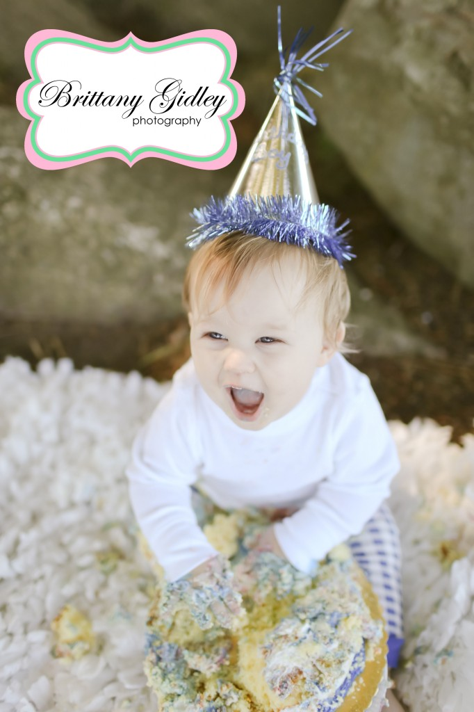 12 Month Baby Cake Smash | Brittany Gidley Photography LLC`