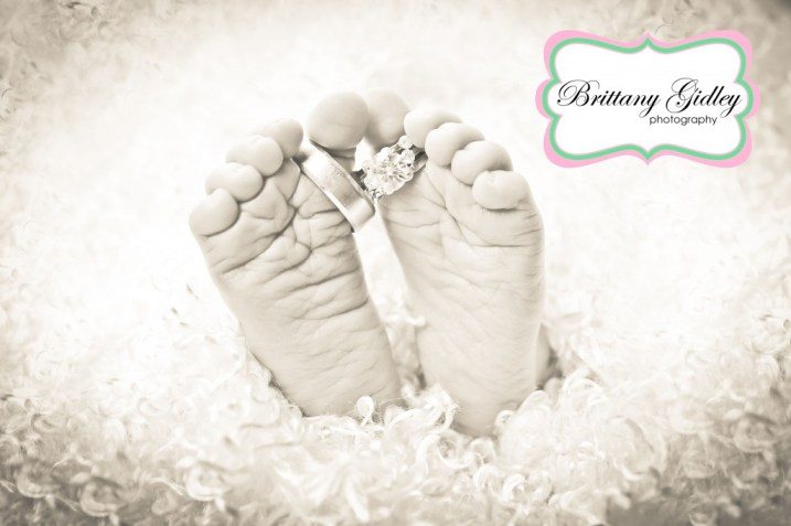 Newborn Baby Feet | Brittany Gidley Photography LLC