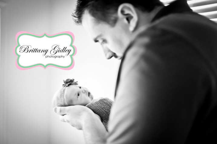 Dad and Newborn Baby | Brittany Gidley Photography LLC