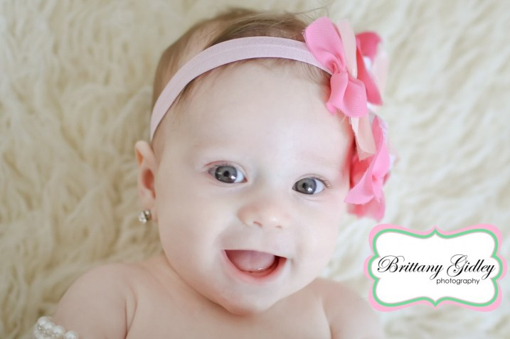 6 Month Baby Pictures | Brittany Gidley Photography LLC
