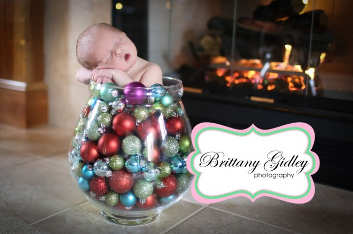 Christmas Newborn | Brittany Gidley Photography LLC
