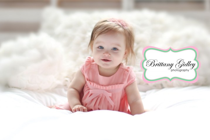 12 Month Old Baby Girl | Brittany Gidley Photography LLC