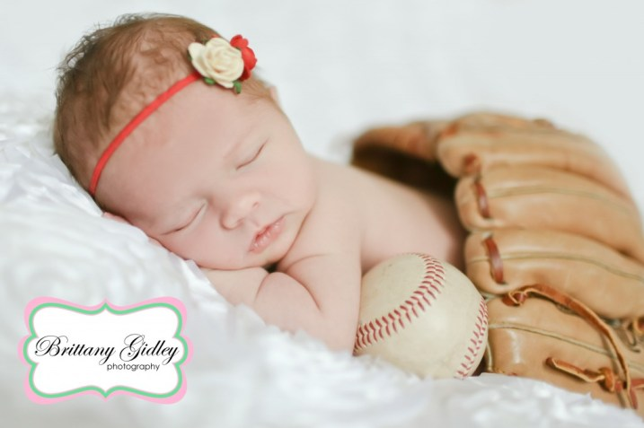 Baseball Themed Newborn | Brittany Gidley Photography LLC