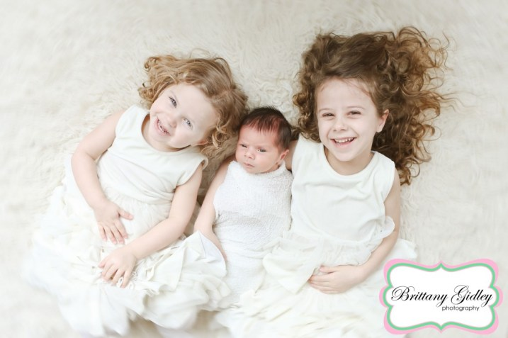 Big Sisters | Newborn Baby Boy| Brittany Gidley Photography LLC