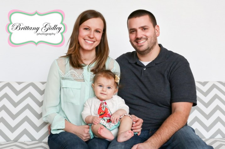 6 Month Baby With Family | Brittany Gidley Photography LLC