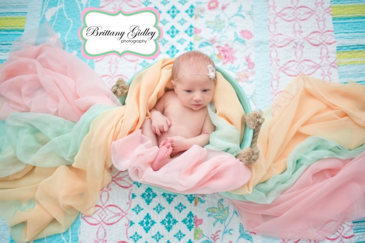 Colorful Newborn Pictures | Brittany Gidley Photography LLC