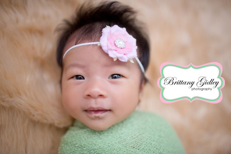 1 Month Old Baby | Brittany Gidley Photography LLC