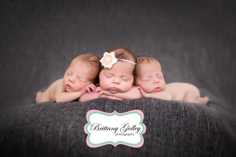 Triplet Photography | Newborn Triplets | Newborn Triplet Photography | Newborn Triplet Photographer | Cleveland Triplet Photographer | Brittany Gidley Photography LLC