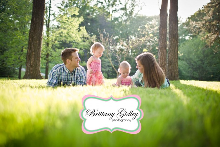 Twin Girls | 12 Months | Forest | Brittany Gidley Photography LLC