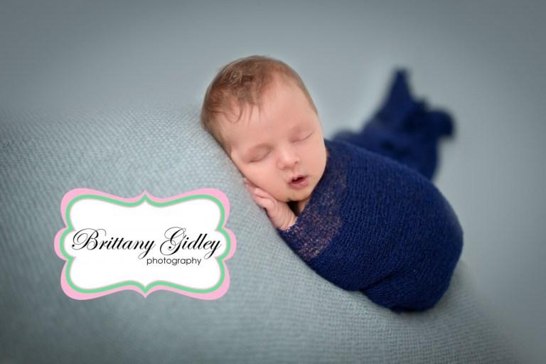 Blue Newborn Session | Brittany Gidley Photography LLC