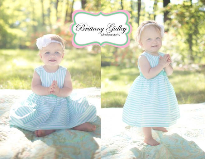 12 Month Twin Girls | Brittany Gidley Photography LLC