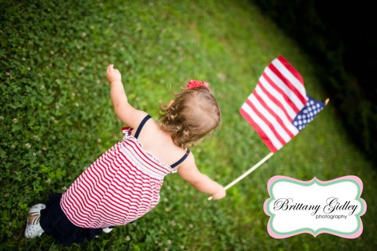 Cleveland Toddler Photographer | 18 Months | American Flag | Brittany Gidley Photography LLC