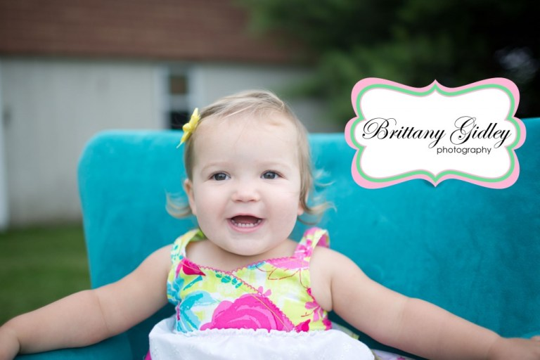 Toddler Photography   18 Months   Teal Couch   Country Chic   Brittany Gidley Photography LLC
