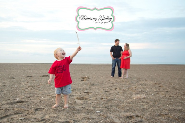 Beach Maternity | Family | 2 Year Old | Headlands | Cleveland Ohio | Beach | Brittany Gidley Photography LLC