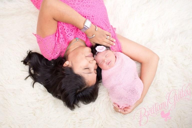 Newborn Photoshoot | Newborn | Girl | Baby Girl | Flokati | Brittany Gidley Photography LLC