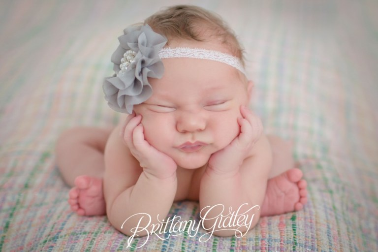 Newborn Baby | Gray | Froggy Pose | Newborn Posing