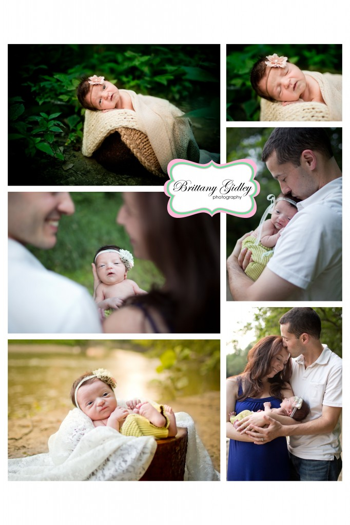 Outdoor Newborn | Baby Girl | Lace | River | Natural Baby | Nature | Brittany Gidley Photography LLC