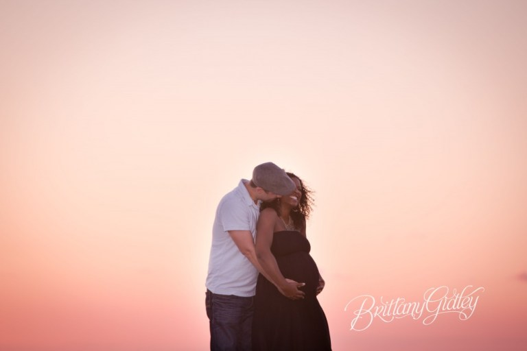 Beach Maternity | Pregnancy | Cleveland Ohio | Edgewater Beach | Sunset | Expecting Mother