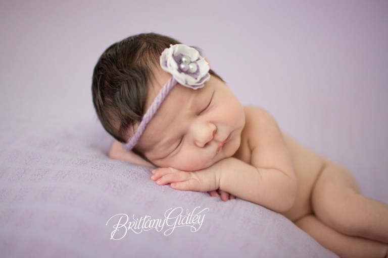Baby Girl | Posing | Newborn Inspiration | Chunk | Cream | Purple | Knits | Brittany Gidley Photography LLC | Newborn