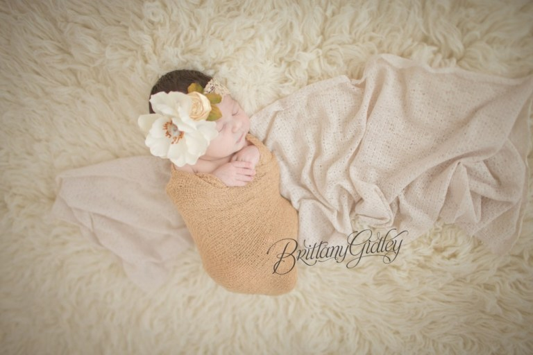 Flokati | Newborn Wrap | Posing | Newborn Inspiration | Chunk | Cream | Brown | Knits | Brittany Gidley Photography LLC | Newborn