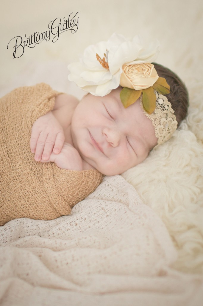 Flokati | Newborn Wrap | Posing | Newborn Inspiration | Chunk | Cream | Brown | Knits | Brittany Gidley Photography LLC | Newborn | Newborn Smile