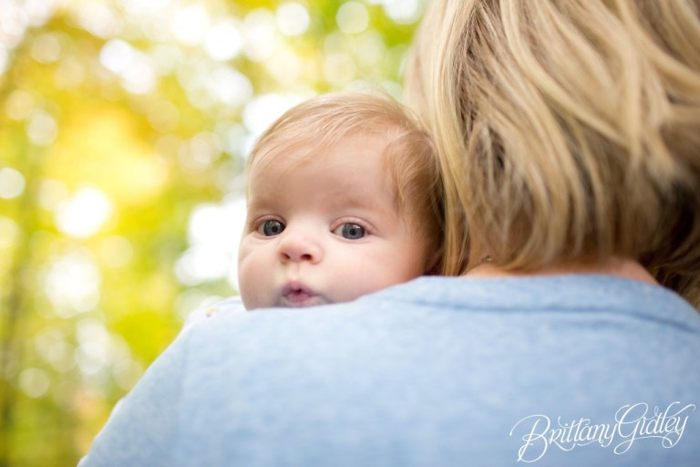 3 Month Old Baby | Fall | Fortier Park | Olmsted Falls, OH | Brittany Gidley Photography LLC