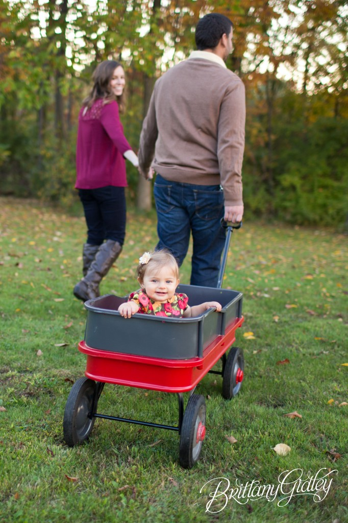 12 Month Baby | Boots | Fall | Wagon | Autumn | Ohio | Brittany Gidley Photography LLC