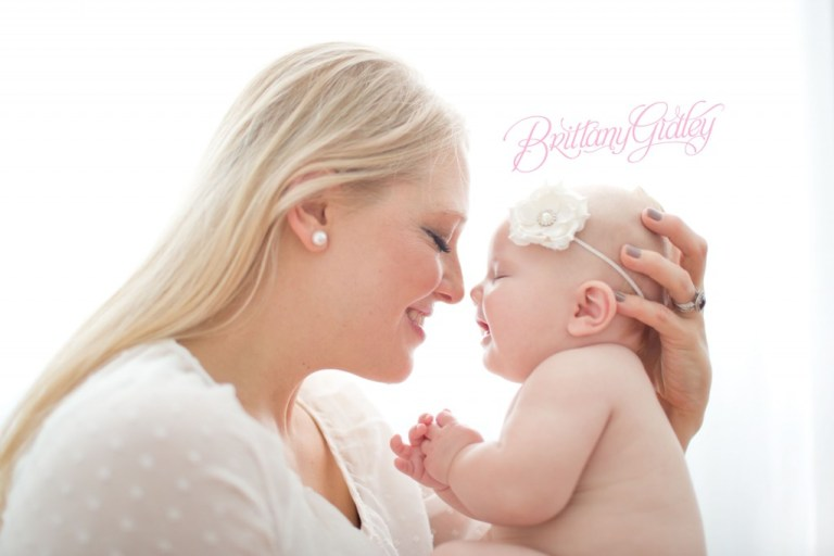 Mom and Baby | Backlighting | 4 Month Old | Chunky | Sweet | Baby Girl | Brittany Gidley Photography LLC