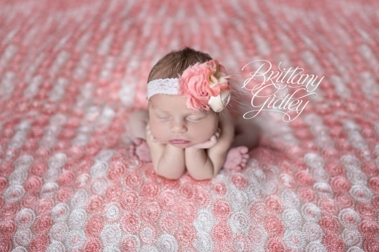 Newborn Baby | Pink | Froggy Pose | Girl | Cute | Adorable | Cleveland | Brittany Gidley Photography LLC