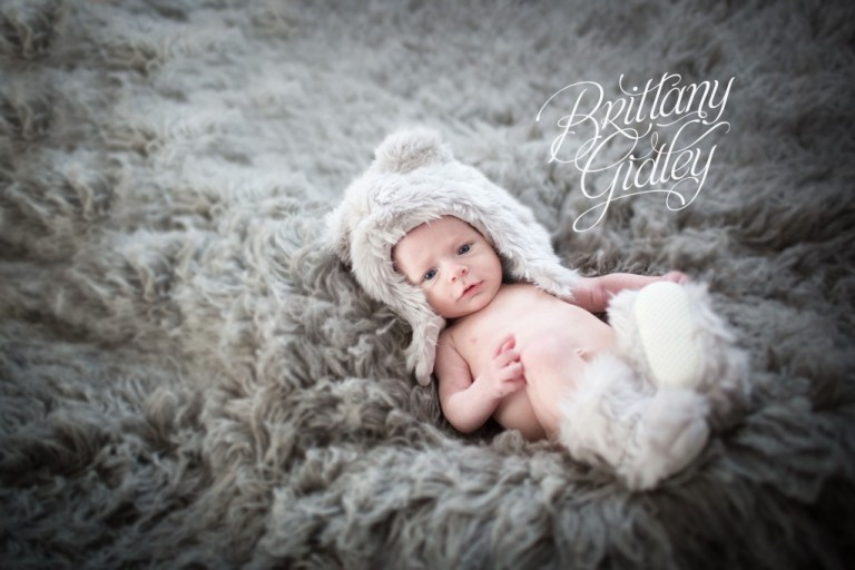 Baby Photography | Brittany Gidley Photography LLC | Start With The Best | Gray Flokati | Best Newborn Photographer