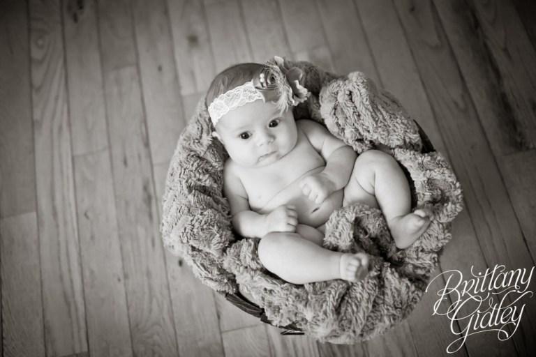 Cleveland Newborn Baby | Adorable | Wood Floor | Bucket | 7 weeks