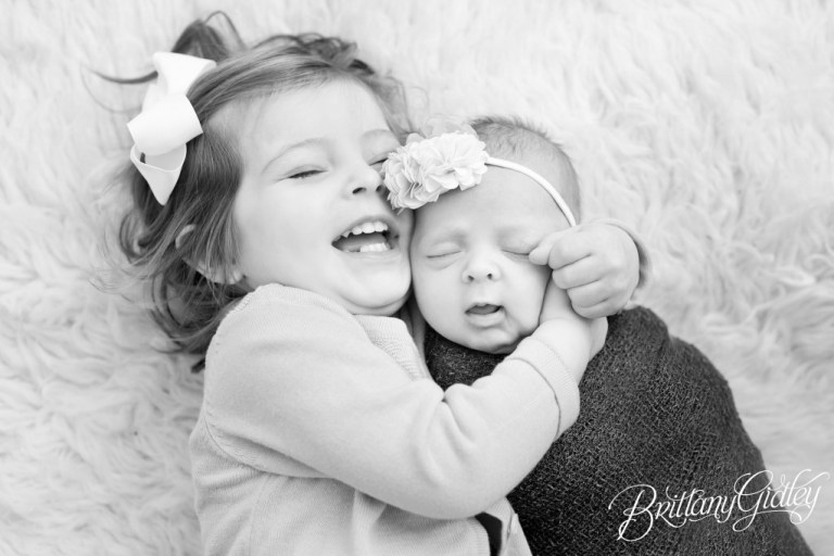 Cleveland Newborn Studio | Sisters | Start With The Best | Brittany Gidley Photography LLC