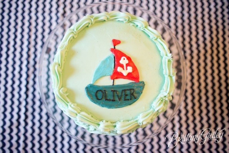 Cake | Nautical Birthday | Start With The Best | Brittany Gidley Photography LLC