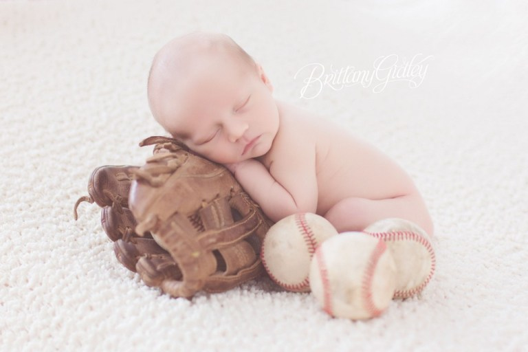 Baseball Themed Newborn Session | Play Ball | Antique | Vintage | Baseball