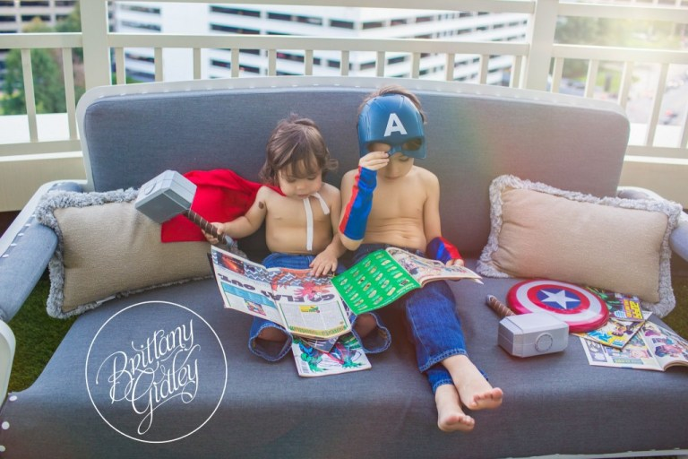 Comic Books |Marvel |  Brothers | Downtown Cleveland | Brittany Gidley Photography LLC | Avengers Photo Shoot