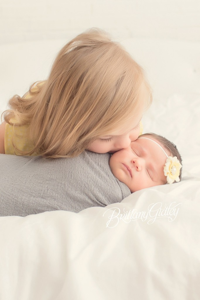 Newborn Baby Girl And Sister