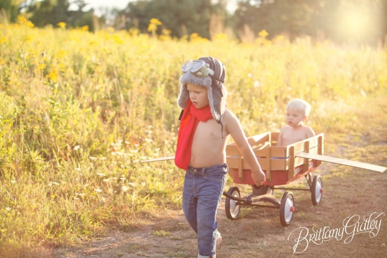 Radio Flyer | Airplane | Airplane Photo Shoot | Start With The Best | Brittany Gidley Photography LLC | Dream Session | Inspiration | Aviation | Flying