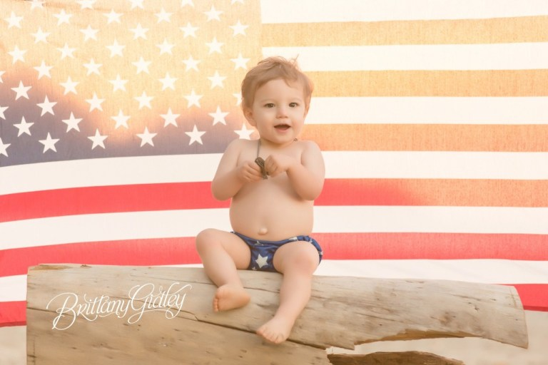 American Flag | Toddler | 18 Months | Beach Baby | Cleveland, Ohio