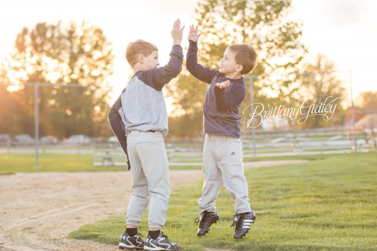 Brothers | Sibling Photo Shoot | Rock The Shot | Details | Family | Play Ball | Brittany Gidley Photography LLC | Cleveland Indians