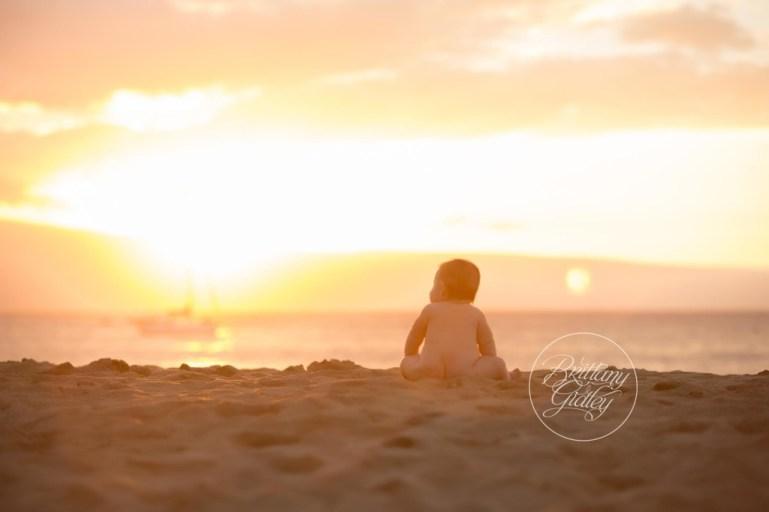Maui | Maui Hawaii | Baby Photographer | Sunset | Beach | Kaanapali Beach