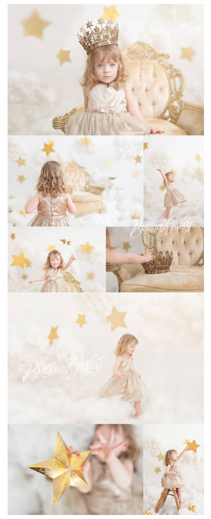 Child Photography Inspiration | Stars & Clouds Dream Session | Cloud 9 Dream Session | Photography Studio | Brittany Gidley Photography LLC Cleveland Ohio