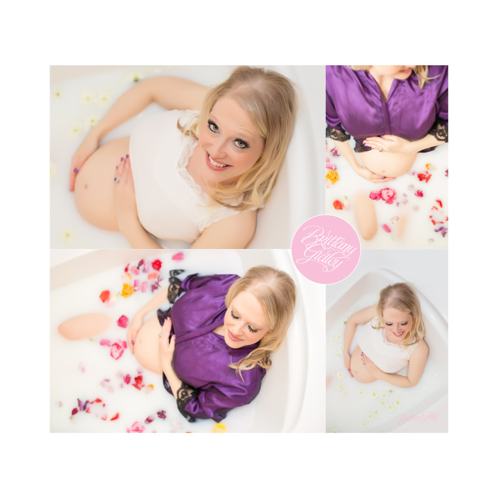 Milk Bath Maternity Session | Cleveland Maternity Photographer