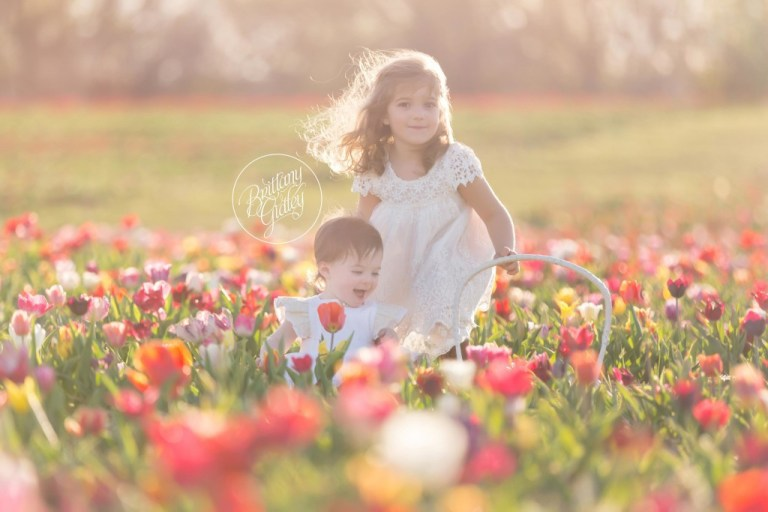 Whimsical Baby Photographer | Flower Field | Tulip Field Photo Shoot | Baby Photographer | Baby Photography | Styled Shoot