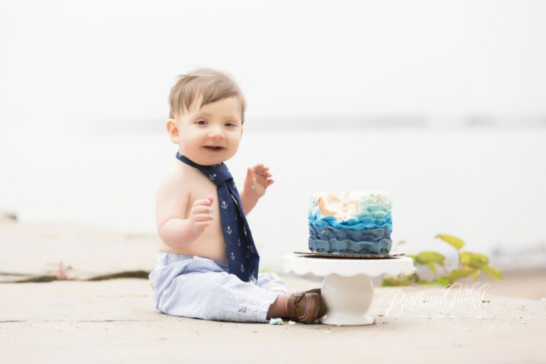 Gone Fishin Cake Smash | Fishing | Huntington Beach | Rocky River Ohio | Best Family Photographer