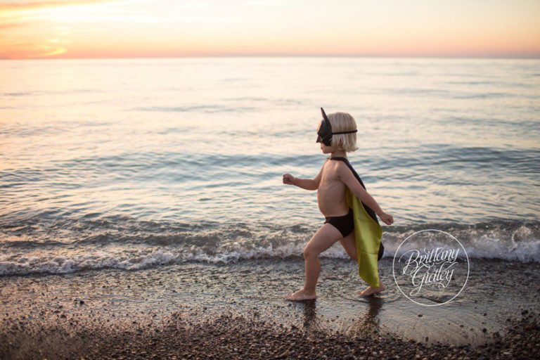 Superhero Beach Session | Toddler Photographer | Mentor Headlands Beach