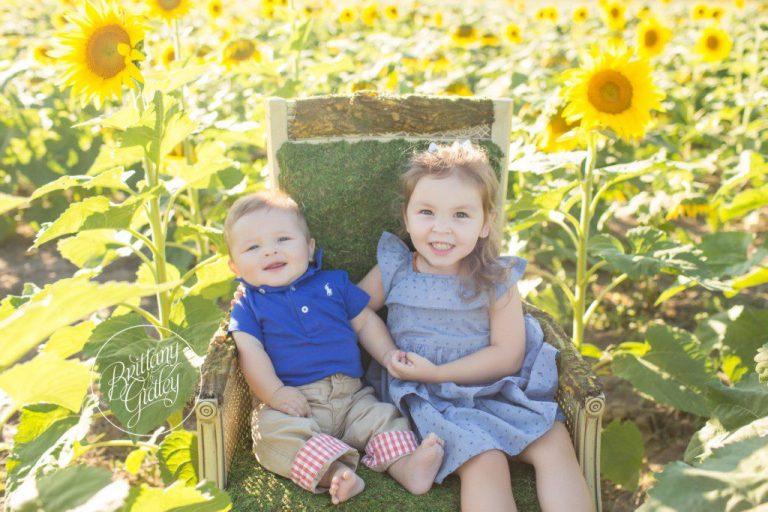 Prayers From Maria Sunflower Field | 6 Month Baby Photographer | Avon Ohio