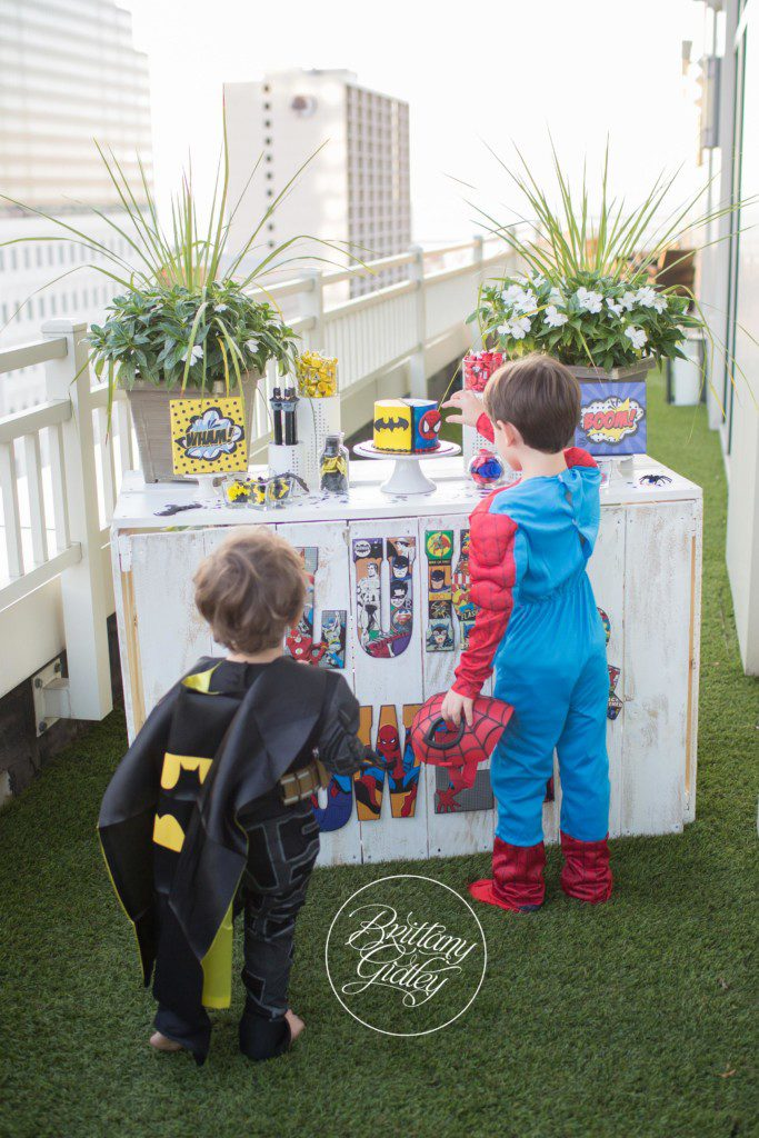 Batman and Spiderman Dessert Table | Superhero Training Camp | Start With The Best | Cleveland Ohio Child Photographer